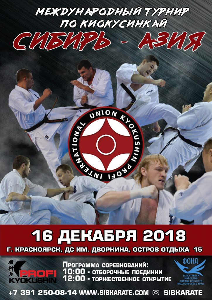 """Международный турнир по киокусинкай каратэ """"Сибирь - Азия""""."""